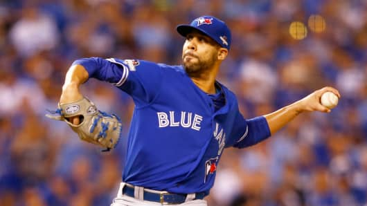 David Price, then with the Toronto Blue Jays, during the ALCS in October.