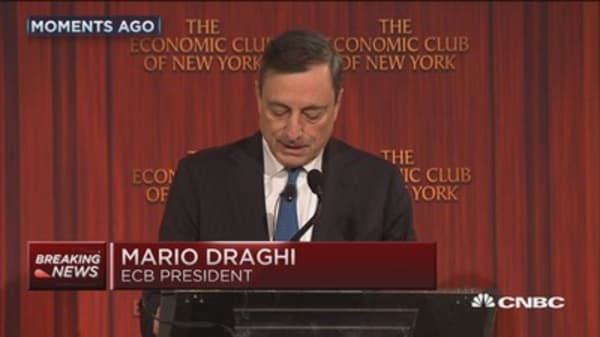 Draghi's dovish remarks moves markets