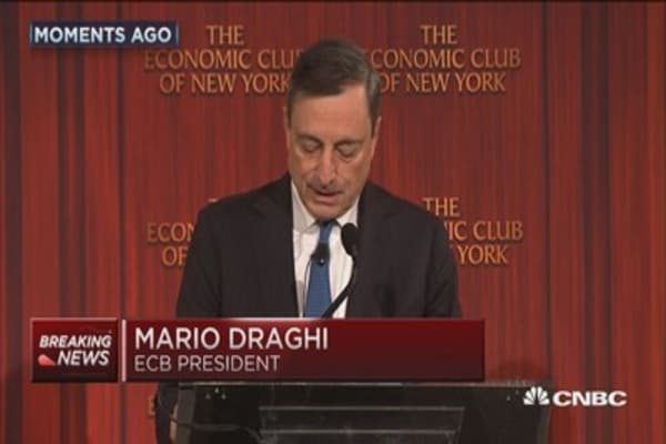 Draghi's dovish remarks moves markets