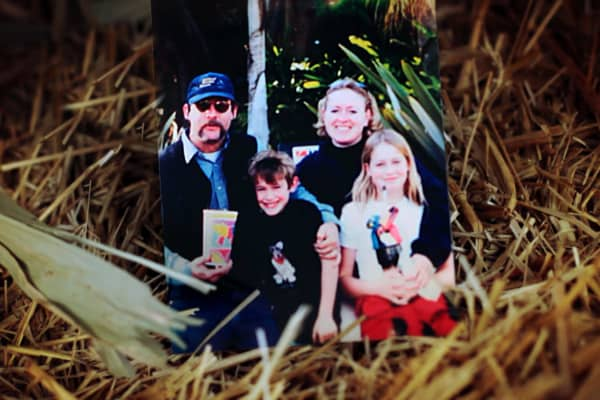 Rich Barber and his family in an undated photo. (L-R) Son Gus, wife Barbara, and daughter Chanda.