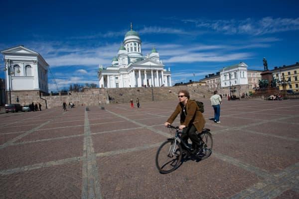 Senat Square in Helsinki, Finnland.
