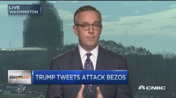 Donald Trump targets Bezos, Amazon in tweetstorm