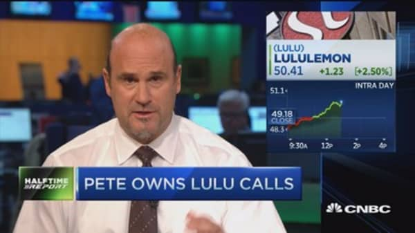Top trades for the 2nd half: LULU