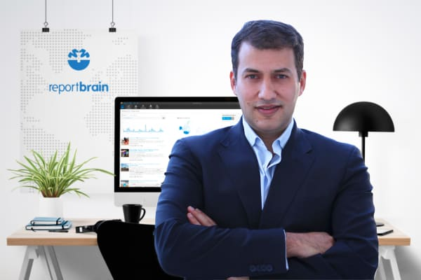 Alexander Kostopoulos founded Reportbrain, a news service aggregator that competes with LexisNexis.
