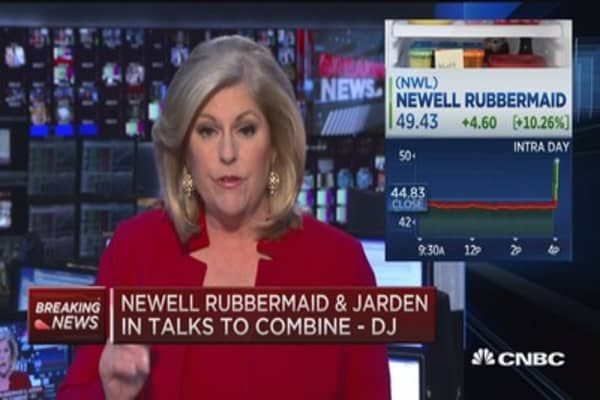 Newell Rubbermaid & Jarden in talks to combine: DJ