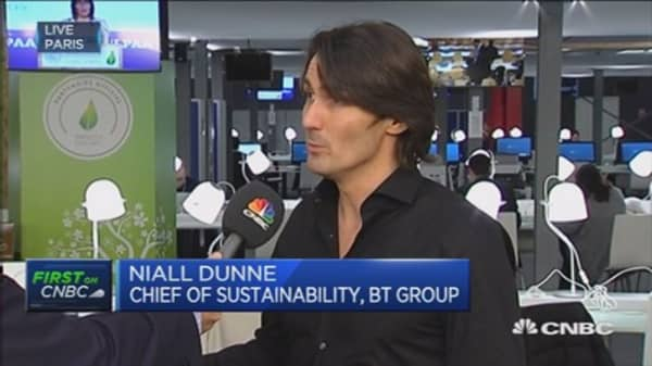 Business has a right to be at COP21: BT exec