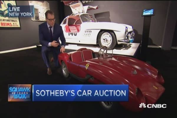 Sotheby's auctions $100 million worth of classic cars