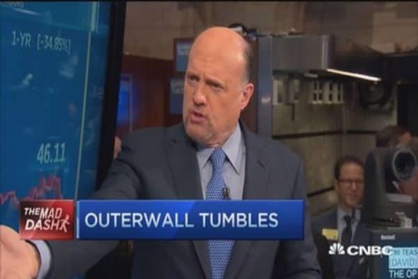 Cramer's Mad Dash: OUTR tumbles