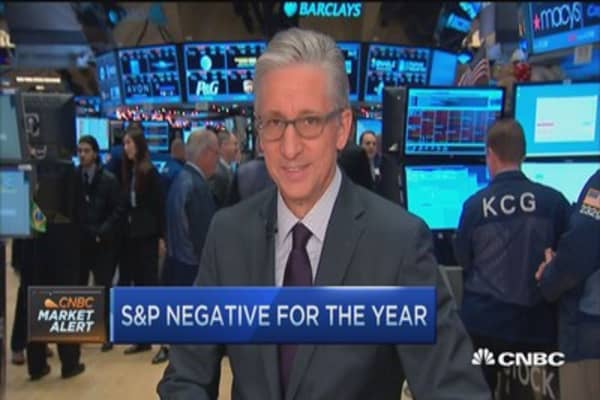 Pisani: All 30 Dow stocks open in the red