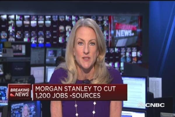 Morgan Stanley To Cut 1 200 Jobs