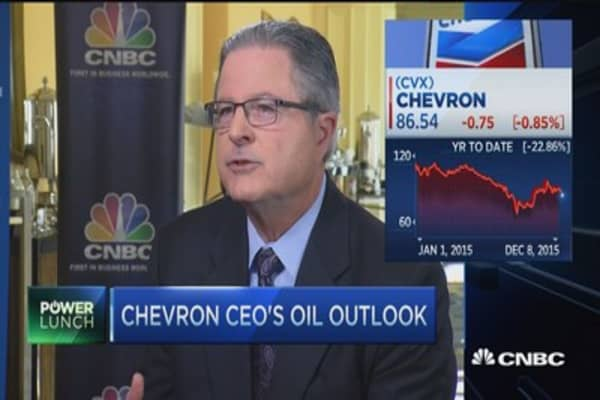 Chevron CEO: We can live with oil prices at 'whatever level'