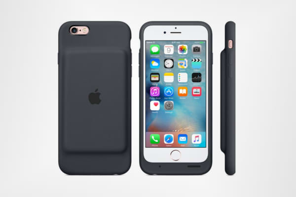 Apple iPhone 6s Smart Battery Case in Charcoal Gray
