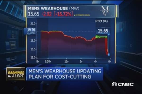 Men's Wearhouse revenue misses