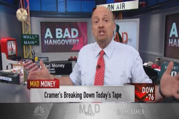 Cramer: Damage of a rate hike is happening now