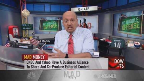 Cramer: Yahoo blew it, Dow & DuPont won