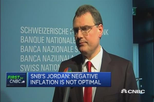 Negative inflation isn't optimal: SNB