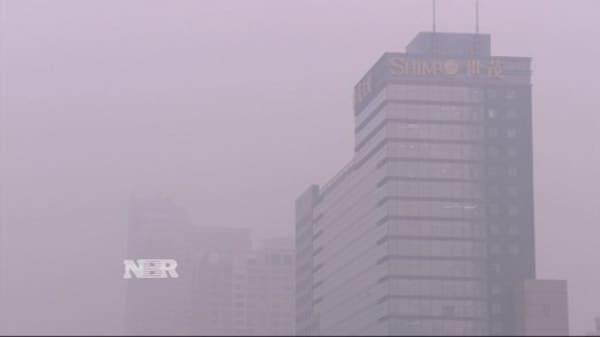 Beijing under red alert