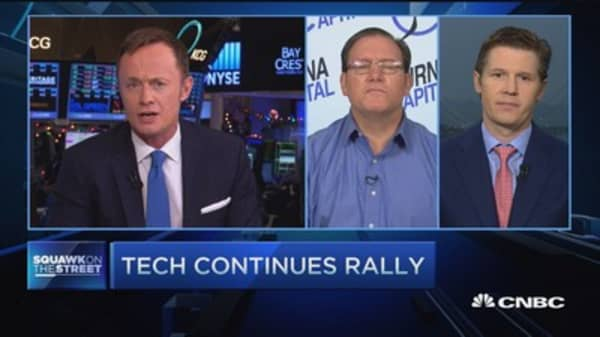 Microsoft, chip stocks rally