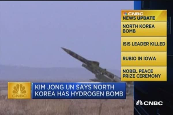 CNBC update: North Korea claims it has a hydrogen bomb