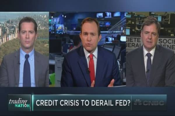 Credit crisis to derail Fed's plans?