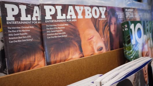 Playboy magazines at a bookstore in Bethesda, Maryland.