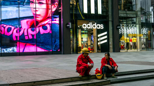 An Adidas shop in Chengdu, China.