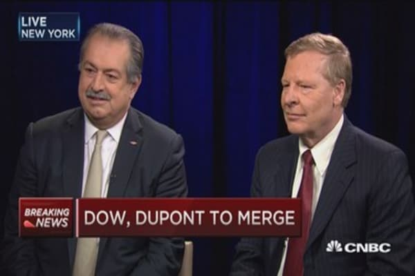 Beauty of this deal it's 50/50: DOW CEO