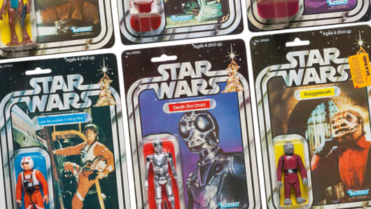 "Six Star Wars ""21 Back"" action figures, 1979"