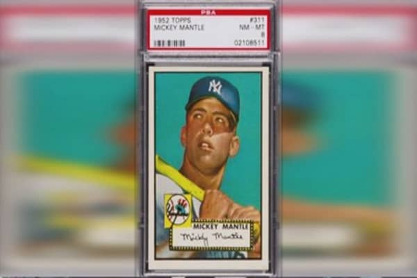 Rare Mickey Mantle rookie card sells for $525k