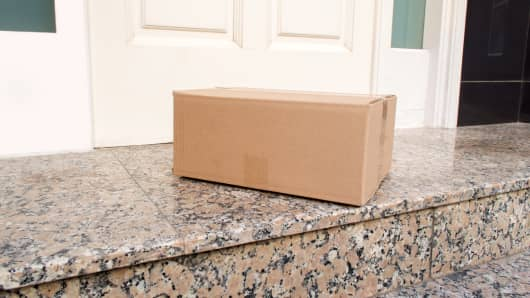 Package on front door