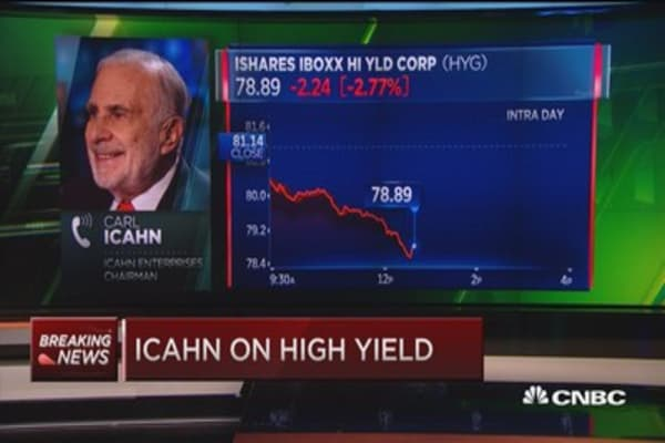 Carl Icahn: High yield tremendously overpriced
