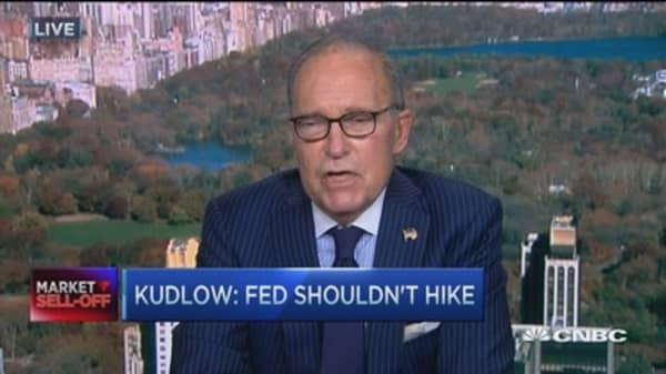 Kudlow: Fed shouldn't hike
