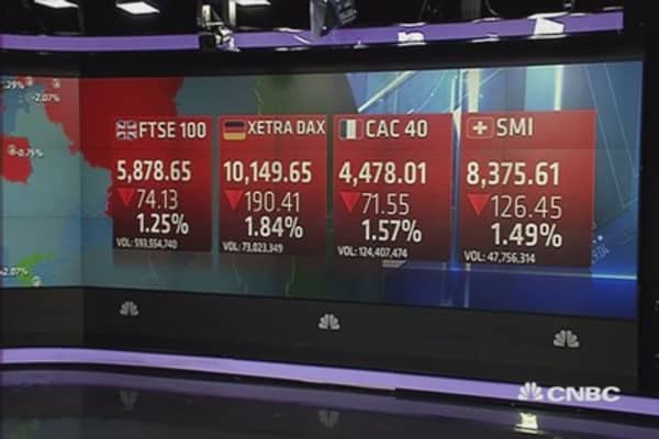 Europe ends sharply lower as oil slides; Fed hike eyed