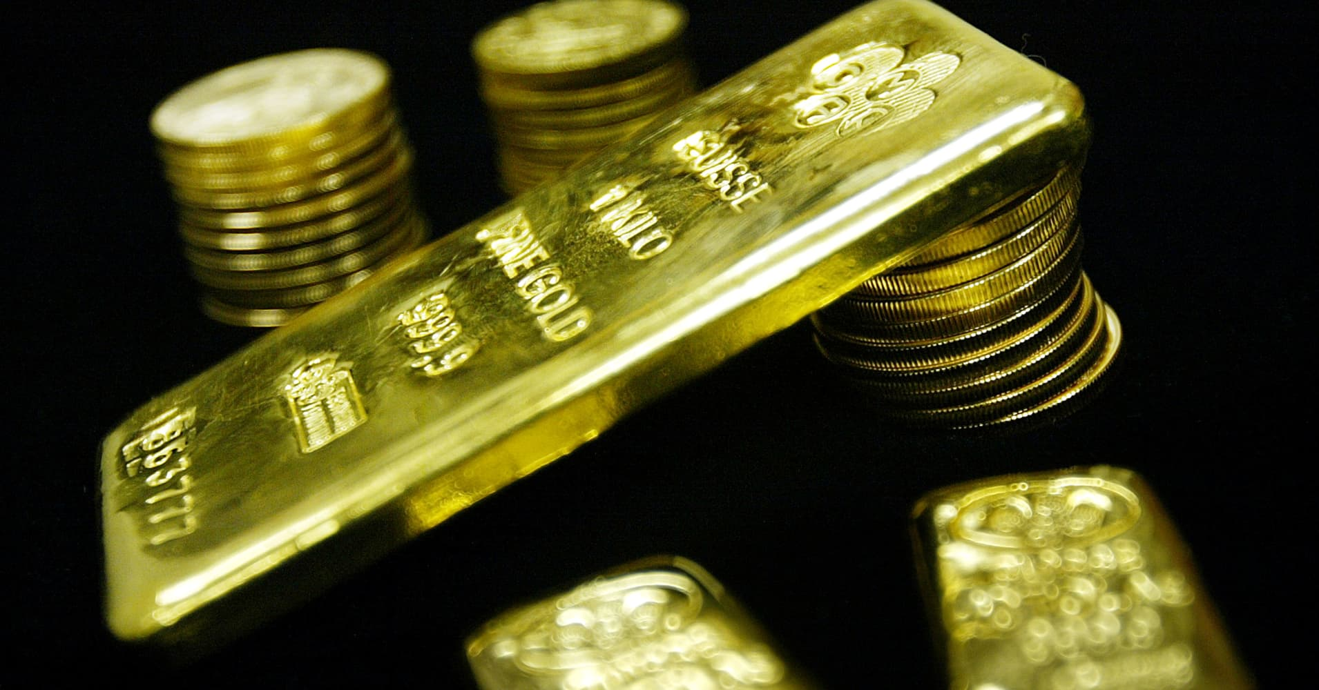 Gold inches up on easing dollar, global concerns
