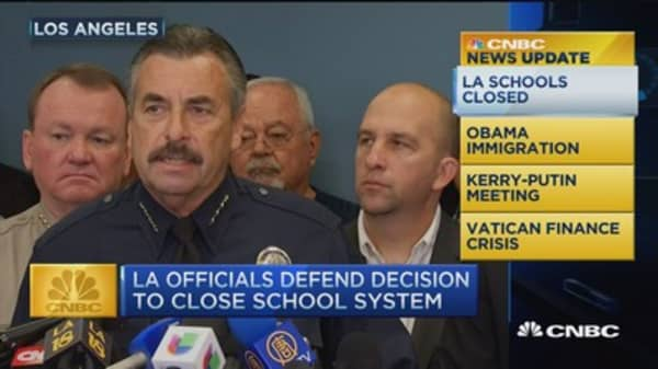 CNBC update: LA officials defend decision to close schools