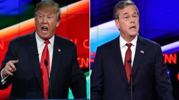 Bush goes after Trump in GOP debate