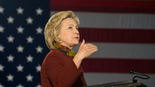 Democratic presidential candidate Hillary Clinton speaks at the University of Minnesota on December 15, 2015 in Minneapolis, MN.
