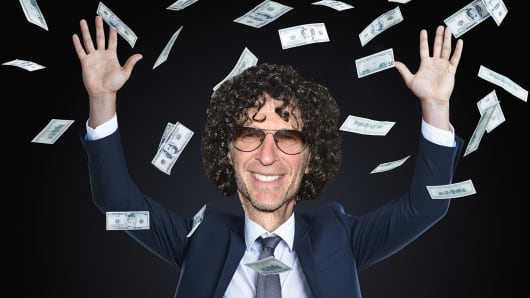 Photo composite with Howard Stern. Howard Stern would be the third highest paid CEO in America.