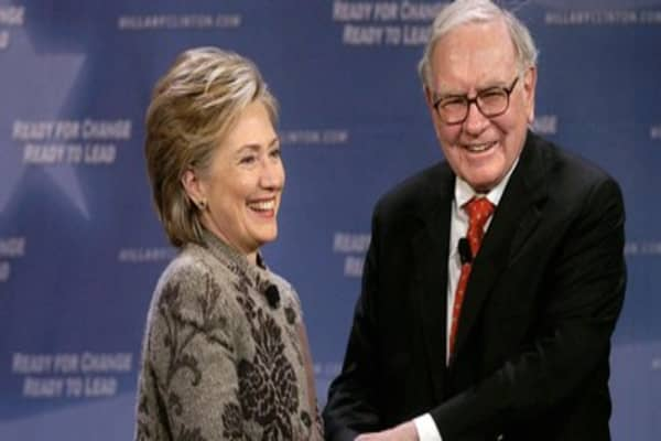 Warren Buffett to endorse Hillary Clinton