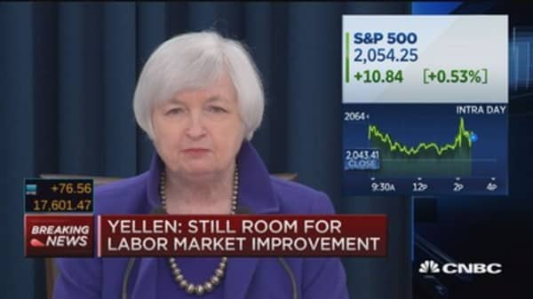 Yellen: Monetary policy still accommodative