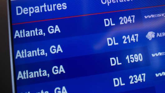 Delta departures screen