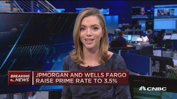 3 major banks raise prime rates