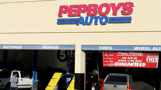 A Pep Boys auto parts store in Encinitas, California.