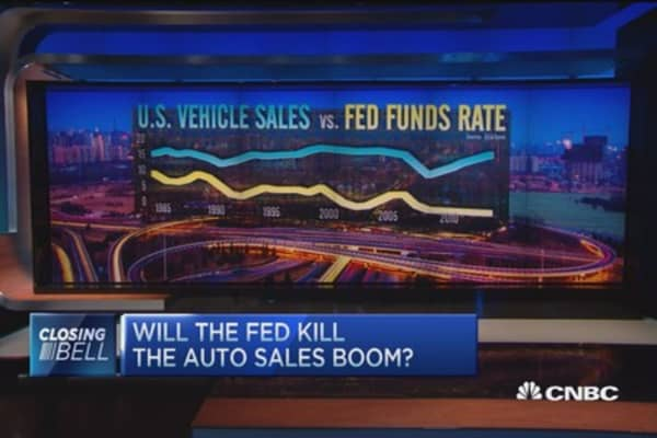 Will the Fed kill the auto sales boom?