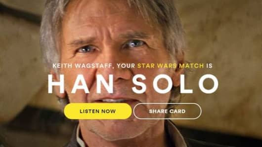 "Find out who your ""Star Wars"" soulmate is with Spotify's new online matching tool."