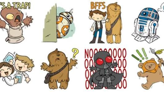 "Facebook has also added a collection of ""Star Wars""-themed stickers."