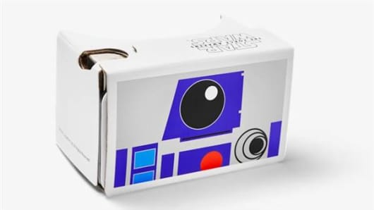 "Google is giving away free ""Star War""-themed Google Cardboard sets that let users explore virtual reality with their own smartphone."