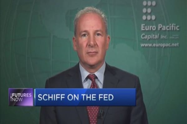 Peter Schiff: We're almost in a recession