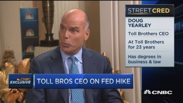 Toll Brothers CEO: We do better in modest inflationary times