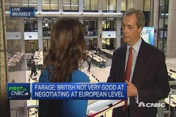 Cameron's EU negotiation not going well: Farage